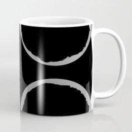 Grey Circles Circling A Midnight Circle Coffee Mug