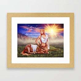 Sagittarius OC - 12 Zodiac Ladies Framed Art Print