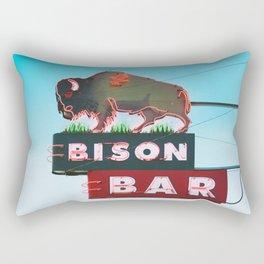 The Bison Bar Rectangular Pillow