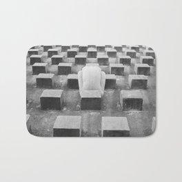 Nude Woman and Concrete Blocks Bath Mat