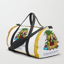 A Blue Christmas Duffle Bag