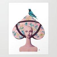 gemma correll Art Prints featuring Gemma Bunny by Gina Martynova