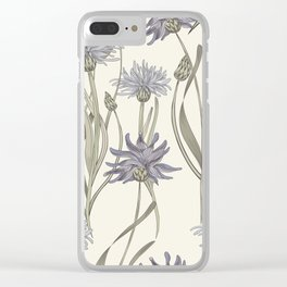 vintage cornflowers Clear iPhone Case