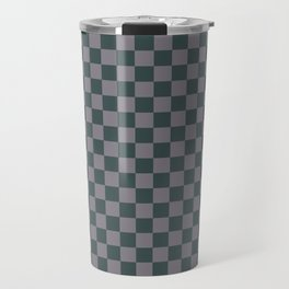 Checkerboard Pattern Inspired By Night Watch PPG1145-7 & Magic Dust Purple PPG13-2 Travel Mug