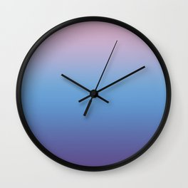 Ombre Pink Blue Ultra Violet Gradient Pattern Wall Clock