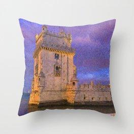 Torre de Belem, Lisbon Throw Pillow