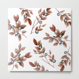 Brown Leaves Metal Print