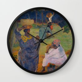 """Paul Gauguin """" Among the mangoes at Martinique"""" Wall Clock"""