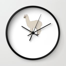 All I Care about are Alpacas and Maybe like Three Llamas T-Shirt Wall Clock