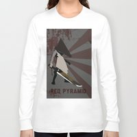 silent hill Long Sleeve T-shirts featuring Pyramid Head - Silent Hill by BatSpats