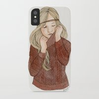 sweater iPhone & iPod Cases featuring Sweater Season by MichelleLynne