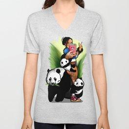 Panda Attack Unisex V-Neck