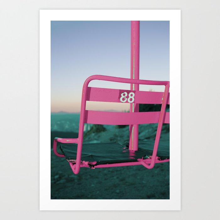 Pop Art 80's Chair Lift Art Print