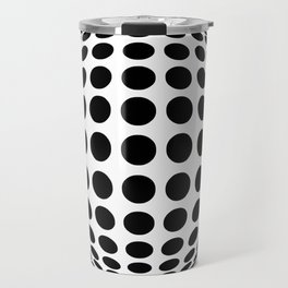 polka Sphere White  Travel Mug