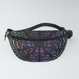 Stained Glass Mandala Fanny Pack