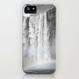 ICELAND Skogafoss Double Rainbow iPhone Case