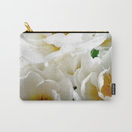 White tulips with afterglow centers Carry-All Pouch