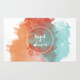 Follow Your Heart & Chase Your Dreams  Rug