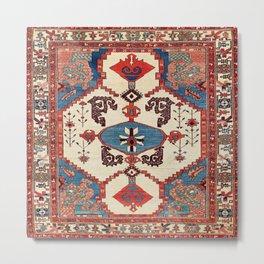 Bakhshaish Azerbaijan Northwest Persian Rug Print Metal Print