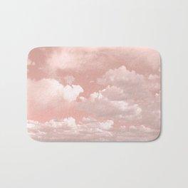 Clouds in a Peach Sky Bath Mat