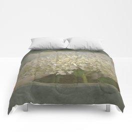 White Hydrangea Comforters