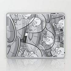 We Come In Peace BW Laptop & iPad Skin