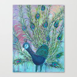 Tail of the Peacock Canvas Print
