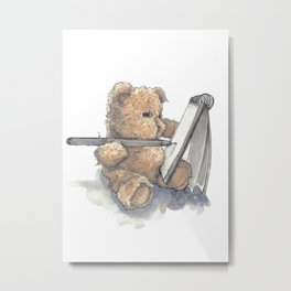 Teddy Bear Artist Metal Print