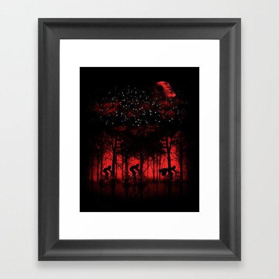 Tour de l'espace Framed Art Print
