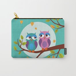 Sleepy owls in love Carry-All Pouch