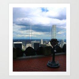 Top of the Rock View over Manhattan Art Print