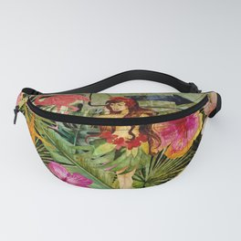 Tropical Vintage Exotic Jungle Beach Party Fanny Pack