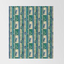 Thistle Print Stripes Throw Blanket