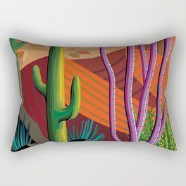 Cactus on Mountaintop Rectangular Pillow