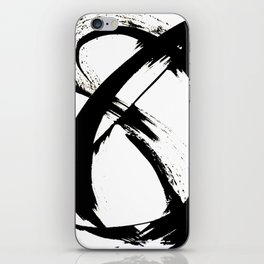Brushstroke [7]: a minimal, abstract piece in black and white iPhone Skin