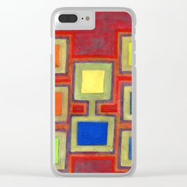 Colorful Screens on the Shelf Clear iPhone Case
