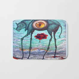 """BEAUTY IS IN THE EYE OF THE BEHOLDER"" Bath Mat"