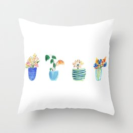 Potted Plants Throw Pillow