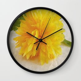 Kerria Japonica Wall Clock