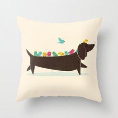Bird Dog Throw Pillow