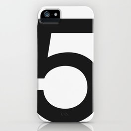 No. 5 — White iPhone Case