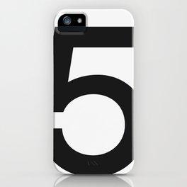 No. 5 — White iPhone Case