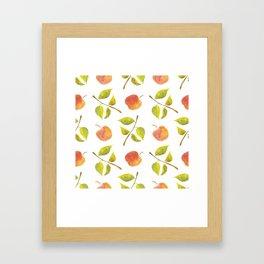 Apples and leaves Framed Art Print