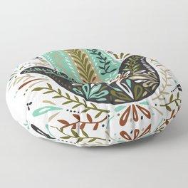 Hamsa Hand – Earth Palette Floor Pillow