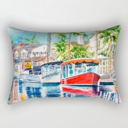 Naples Red Rectangular Pillow