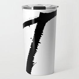 Letter T Ink Monogram Travel Mug