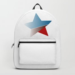 Ombre red white and blue star Backpack