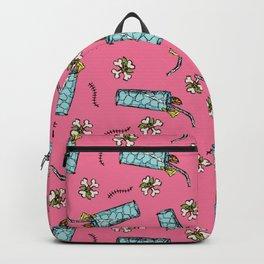 Luau Drinks + Crossbones Toss in Pink Grapefruit Backpack