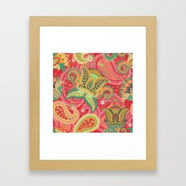 Boho Paisley Floral Pattern 4 Framed Art Print