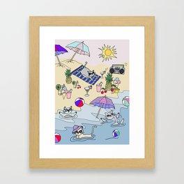 summer cats Framed Art Print
